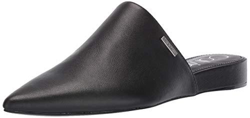 Calvin Klein Women's CHANTALIA Mule, Black Nappa Leather, 9 M US