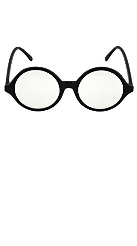 ES77611/54 Black Professor Glasses Clear - Pants Nerd Costume