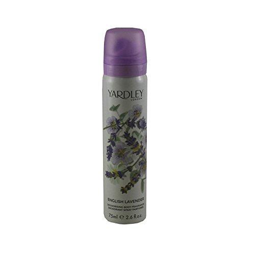 Yardley of London Refreshing Body Spray for Women, English Lavender, 2.6 Ounce