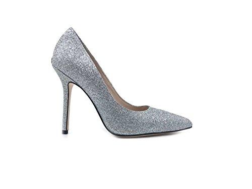 para de de LIU Mujer Plateado Jeans Vestir Cuero Zapatos Jo UUawX0