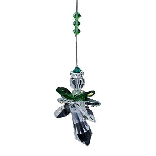 Crystal Archangel Raphael Dark Green - Rainbow Maker - Crystal Suncatcher - Home, Living Room, Bedroom, Kitchen, Car Decoration - Porch Decor - Sun Catcher - Hangings Crystal Glass Ornament