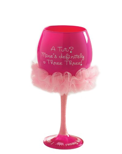Mud Pie Tutu Wine Glass