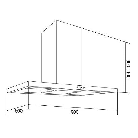 Klarstein Filtro de carb/ón activo Accesorio Repuesto para campana extractora 1 filtro para aire en circulaci/ón