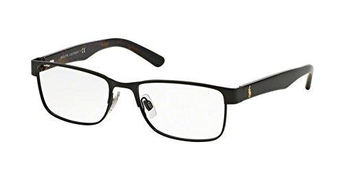 Polo Men's PH1157 Eyeglasses Matte Black 55mm (Lauren Men Ralph Glasses)