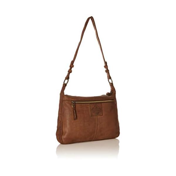 Kompanero Cognac Genuine Leather Shoulder Handbag Bag 2