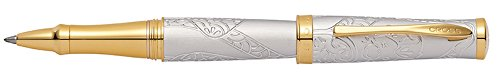 Cross Year of The Monkey Brushed Platinum and 23KT Gold Plate Rollerball Pen (AT0315-21)