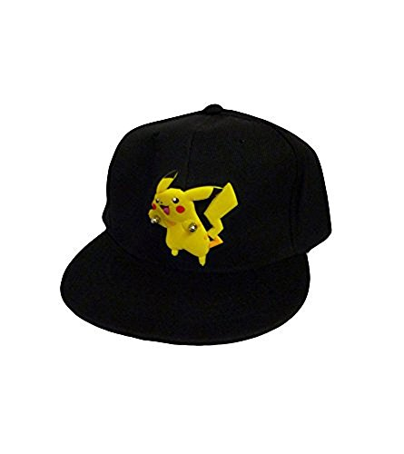 Price comparison product image Pokemon: Black Snapback Baseball Hat - Diecut Run Pikachu