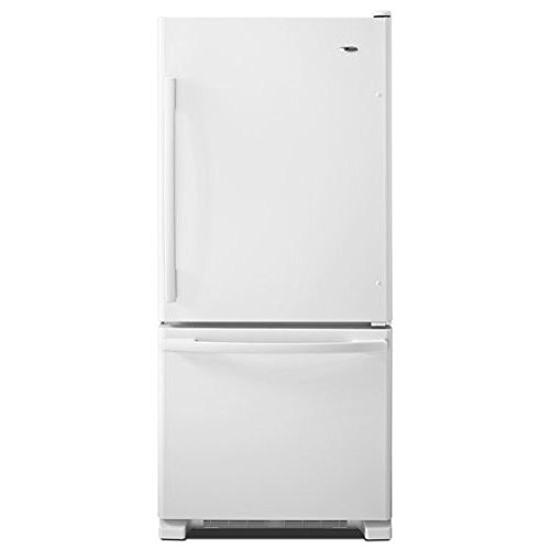 Amana ABB1924BRW 18.5 Cu. Ft. White Bottom Freezer Refrigerator - Energy Star