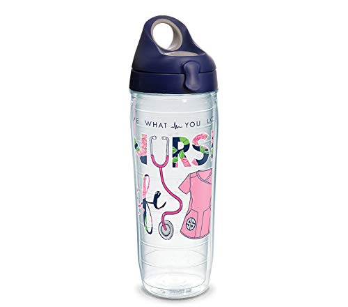 Tervis 1294220 Simply Southern Nurse Life 24 oz Water Bottle with lid, 24oz, Clear]()