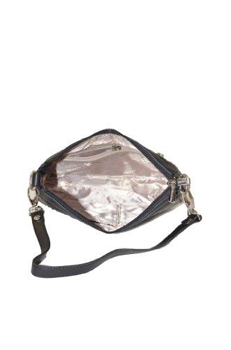 Borsa a spalla in pelle per donna, marchio francese Hexagona