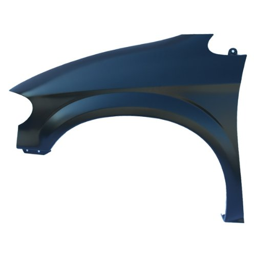 CarPartsDepot, Driver Left Side Front Fender Primed Black Steel Panel LH, 371-17450-01 CH1240228 5018443AA