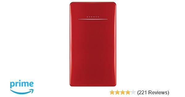 Amazon.com: Daewoo FR-044RCNR Retro Compact Refrigerator 4.4 ...