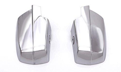Chrome Mirror Covers 2 Piece (Auto Ventshade 687683 Chrome Mirror Cover, 2 Piece)