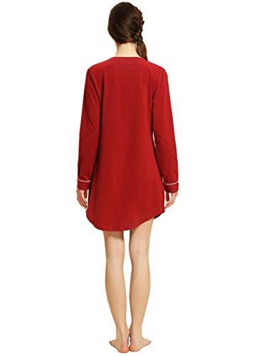 Suntasty Mujer Del Pijama De Rojo