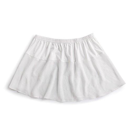 DEMDACO Off White Sheer Women's Medium Stretch Polyester Shirt Extender
