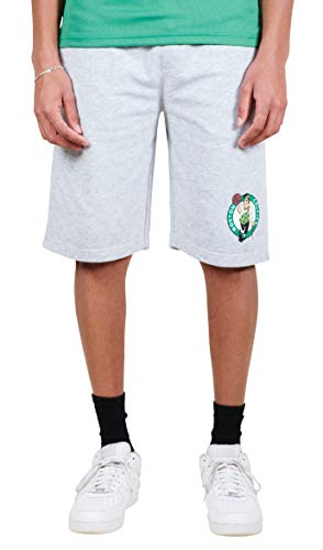 Ultra Game NBA Boston Celtics Men's Active Workout Stripe Basketball Shorts, Heather Gray, Large