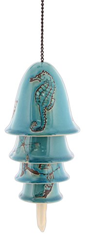 Distinctive Designs Nautical Ceramic Wind Chime Turquoise Crackle Glaze Review