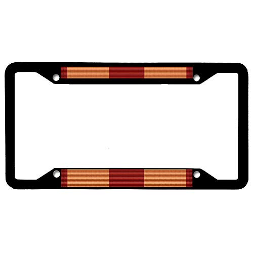- Marine Corps Expeditionary Medal Ribbon Customized License Plate Frame Tag, Car License Plate Cover, 4 Holes Black Stainless Steel Car License Plate Holder