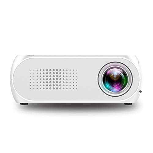 LED Projector 400-600 lm Support 1080P (1920x1080) 24-80 inch/QVGA (320x240) for TV,Phone,Game,Film