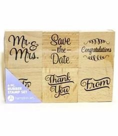 6 Piece Rubber Stamp Set