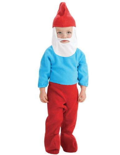 [The Smurfs Movie Romper Costume, Papa Smurf, Toddler Size] (Smurf Costume 2 Year Old)