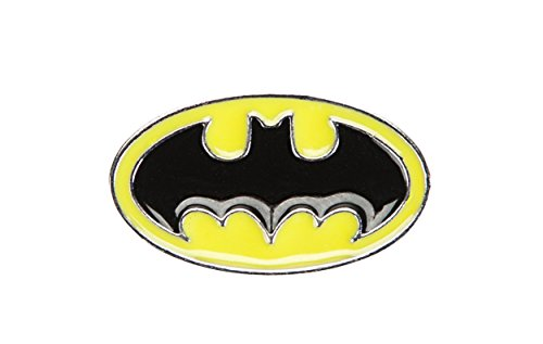 DC Comics Batman Logo Molded Enamel Lapel Pin (Enamel Batman Pin)