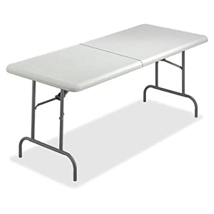 iceberg indestructable too bifold table rectangle top 96 table top length x 30quot