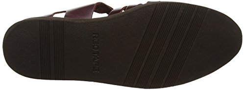 Sandales Bout Bordo Marron fermé Tape Red Homme Rav ECBpq