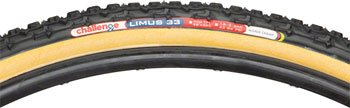 Bike Open Tubular Clincher Tire - Challenge Limus Cross Open Tubular (Clincher) Tire (Black/Brown, 33-mm)