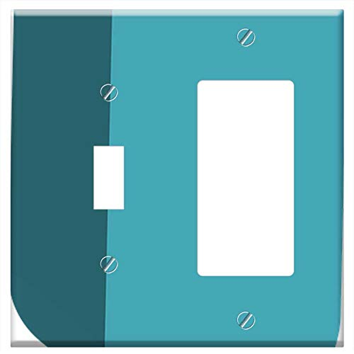 - 1-Toggle 1-Rocker/GFCI Combination Wall Plate Cover - Exclamation Mark Punctuation Exclamation Symb