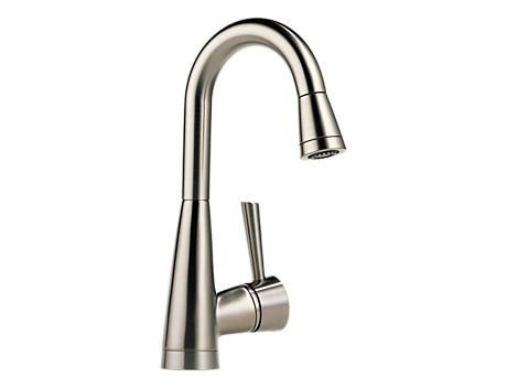 - Brizo 63970LF-SS Venuto Single Handle Pull-Down Bar/Prep Faucet with SoftTouch, Stainless