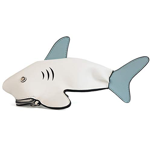 À À Femme Féroce Blanc De Sac Cross Simulation Stéréo Cartoon Blanc Mignon Animal 3d Creative Main Bandoulière Sac Requin Diagonal Zwzh Sac Couleur dnYEwWqEx