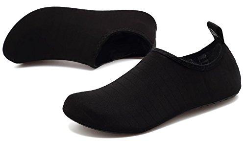 Aosifu Barefoot Water Schoenen Aqua Sokken Surf Zwembad Yoga Strand Zwem Oefening Voor Heren En Dames Zwart