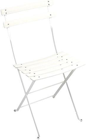 Fermob Bistro - Silla plegable estructura de acero y listones de resina Duraflon, color blanco
