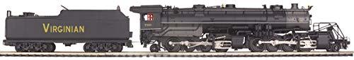MTH 1:48 O Scale Virginian #736 2-8-8-2 Y3 Stream Engine Car Train #20-3095-1