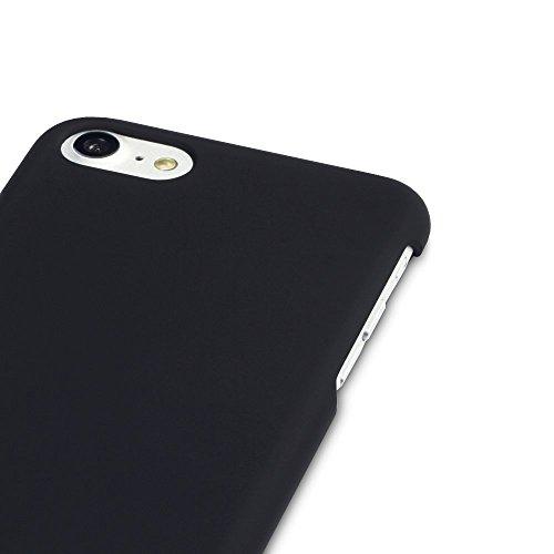Terrapin Coque hybride Coque arrière rigide en caoutchouc pour Apple iPhone 7–Noir