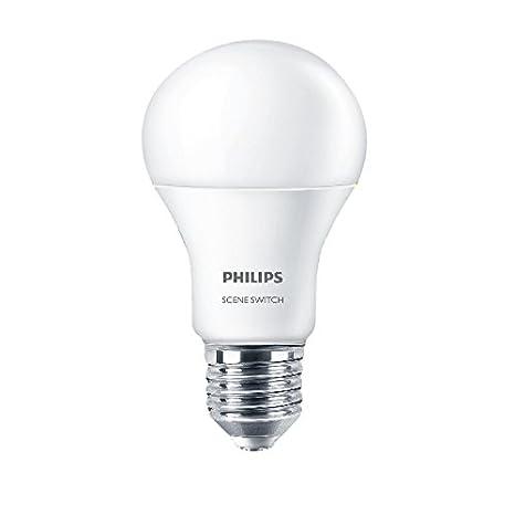 Philips bombilla LED de 9 W doble lámpara luz 230 V E27 3000 K 6500 K escena Interruptor Lámpara de conversión de color 2 unidades: Amazon.es: Iluminación