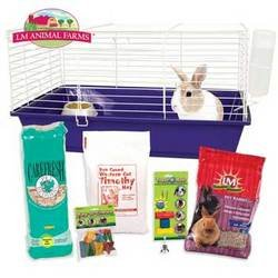 Ware Manufacturing Home Sweet Home LM Rabbit Cage Starter Kit (Rabbit Starter Kit Cage)