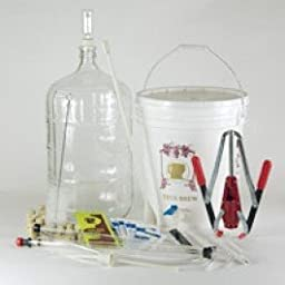 Ultimate Wine Making Equipment Starter Kit with 6 Gallon Glass Carboy
