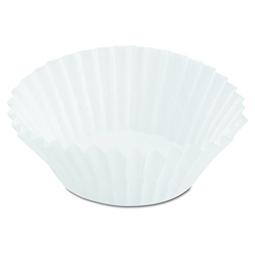 Dixie 8AAX Paper Fluted Baking Mini Cups, Dry-Waxed, 3-1/2, White, 500 Per Pack (Case of 20 Packs)
