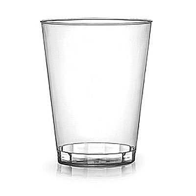 2 oz. Clear Plastic Shot Glass - 2500 per case by Fineline settings