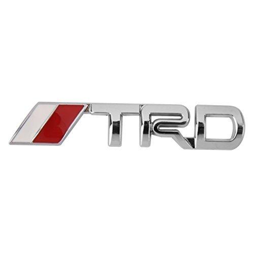 Car Logo Emblem (T-TS 3D TRD Metal Badge Metal Emblem Sticker Logo for Toyota Car Decor)