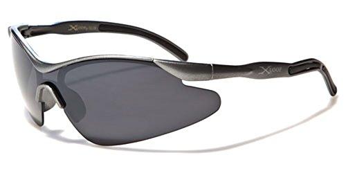 Kids AGE 3-12 Sports Half Frame Cycling Baseball Sport Sunglasses - Gray