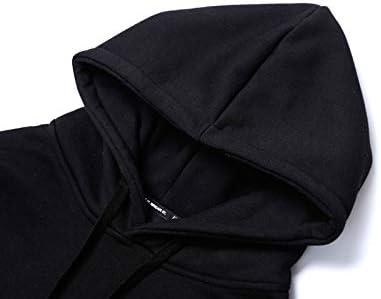YDMZMS Herren Hoodie Print Pullover Hoodies Hooded Sweatshirts Pullover Fashion Freizeitkleidung Tops S Schwarz