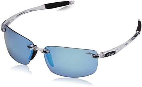 Revo Descend N RE 4059 01 GY Polarized Rectangular Sunglasses