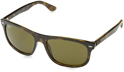 Ray-Ban INJECTED MAN SUNGLASS - SHINY HAVANA Frame DARK BROWN Lenses 59mm - Rayban Glasses Style