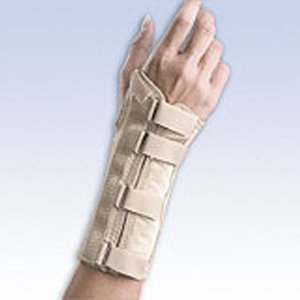 Fla 22-561SMBEG Soft Form Elegant Wrist Support for Left, Beige, Small by FLA Orthopedics