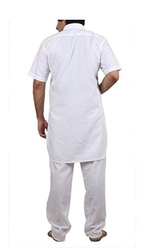Royal Kurta Big Boy's Cotton Blended Fine Pathani Kurta Pyjama 42 White by Royal Kurta (Image #1)
