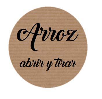 Etiquetas adhesivas kraft para bolsas de Arroz en tu boda ...