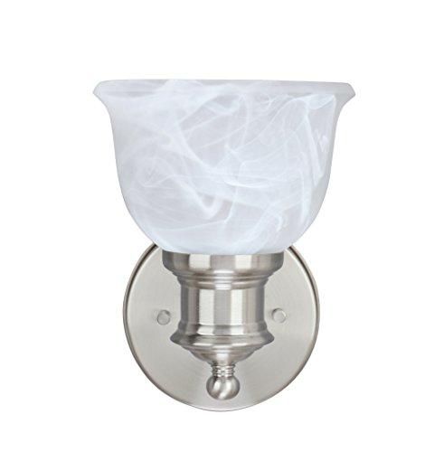 Aspen Creative 62137, One-Light Metal Bathroom Vanity Wall Light Fixture, 5 3/4